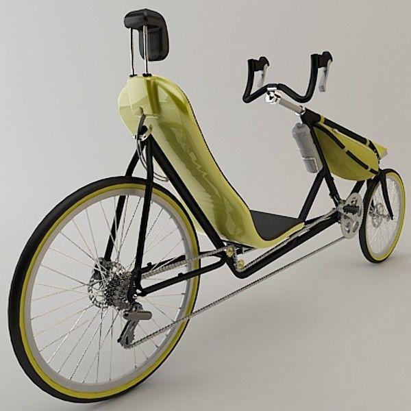 3d 3ds Bike Recumbent Bicycle Recumbent Bicycle Lowrider Bicycle Bike Design