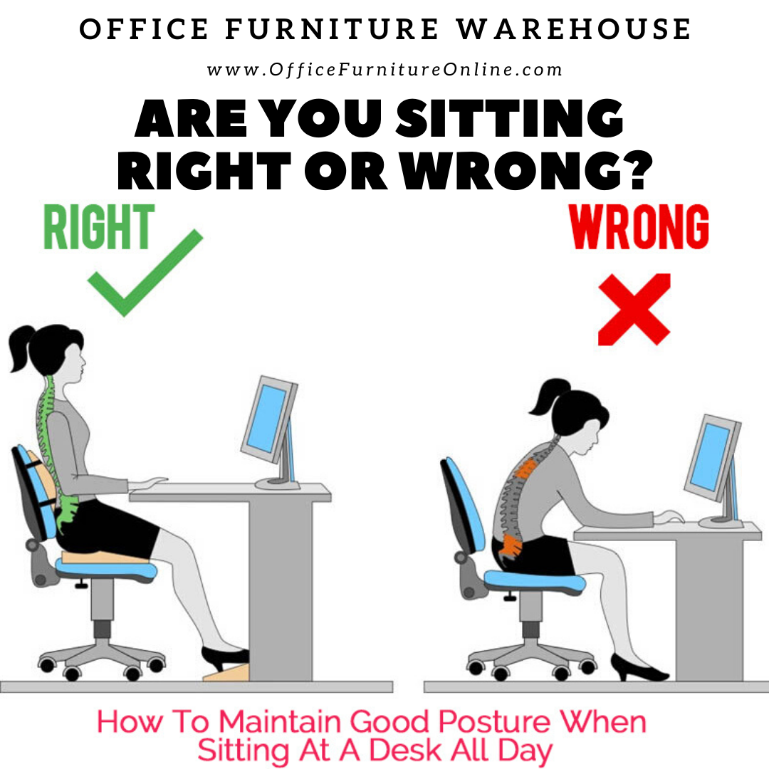 Do You Sit Correctly In Your Chair Good Posture Office Furniture Warehouse Postures