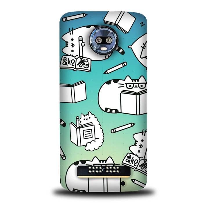 Pusheen Coloring Book S0105 Motorola Moto Z4 Moto Z4 Play Case In 2020 Case Case Cover Phone Cases