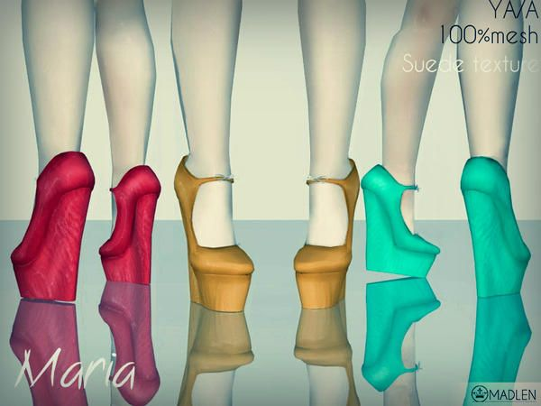 Madlen Maria Shoes exquisite wedge heel by MJ95 - Sims 3 ...
