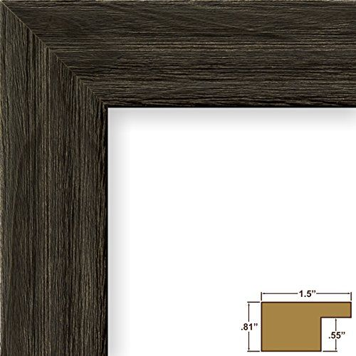 Craig Frames 1.5DRIFTWOODBK 23 by 32-Inch Picture Frame, Wood Grain ...