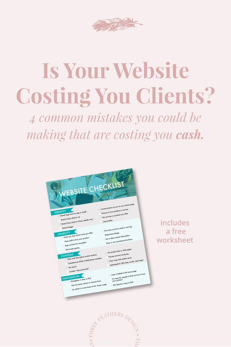 Is Your Website Turning People Away Three Feathers Design Santa Barbara Website Designer Website Checklist Web Design Tips Business Tutorial