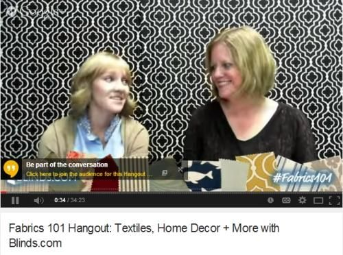Abigail Sutton and Karin Jeske present Fabrics 101 from Blinds.com headquarters. http://youtu.be/b9Lepq5JXg8