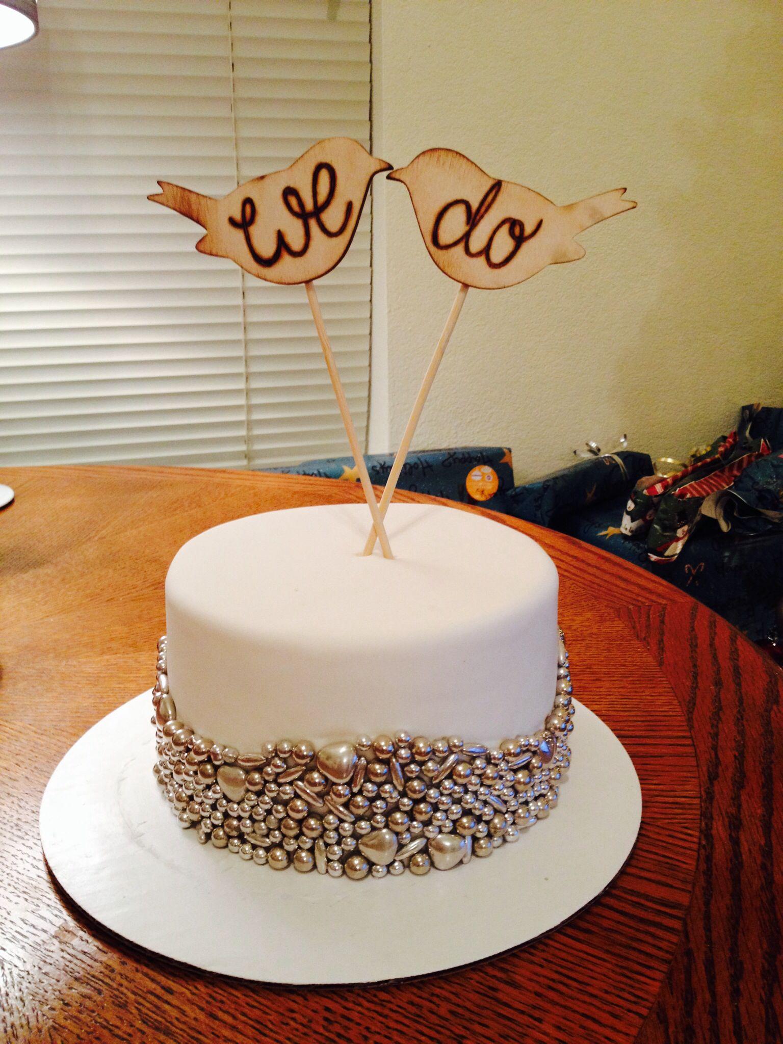 1 Year Anniversary Cake Cute Wedding Cake 1st Year