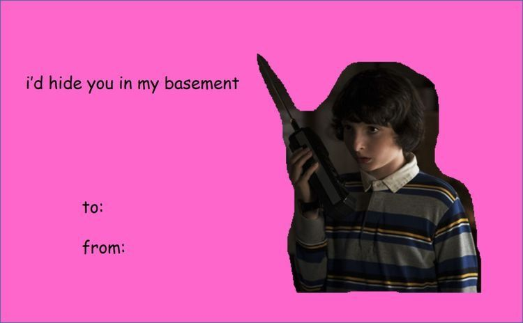 Pin By The Optimistic Scorpioness I On Commedia Valentines Memes Funny Valentines Cards Stranger Things Meme