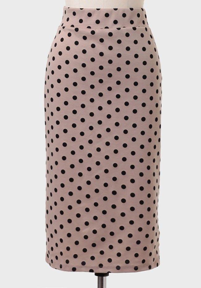 eee6009c7 Henrietta Polka Dot Indie Pencil Skirt | Modern Vintage Bottoms | Modern  Vintage Clothing
