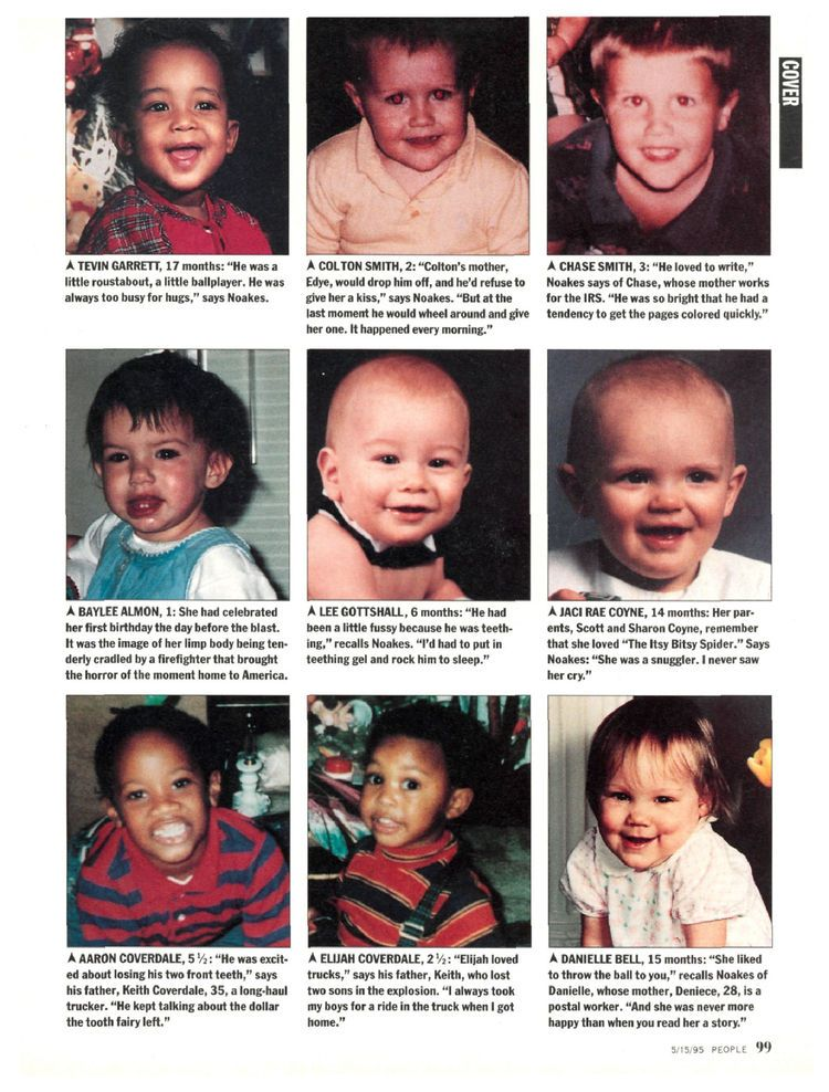 Child victims of the Oklahoma City Bombing. | Evil HAS No FACE. | Pinterest | Lost, Pictures of ...