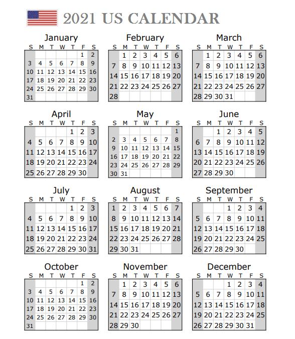 2021 Us Portrait Calendar With Holidays In 2021 2021 Calendar Printable Calendar Template Monthly Calendar Printable