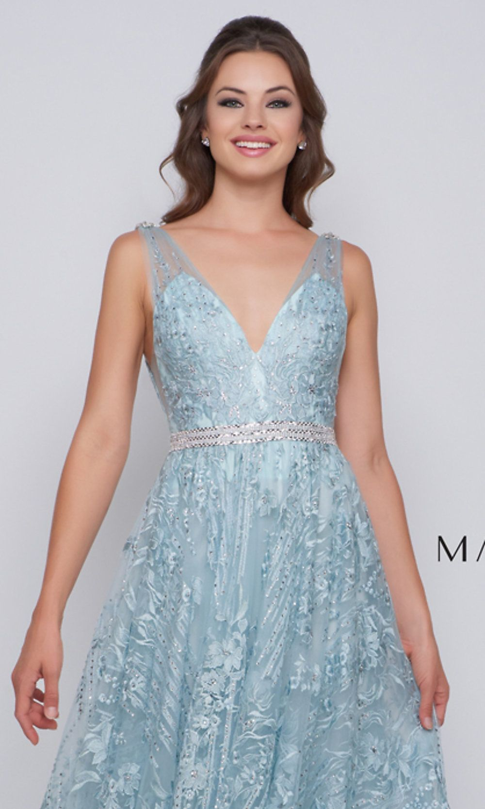 b2b66be8faf Long Embroidered Designer Prom Dress by Mac Duggal in 2019 ...