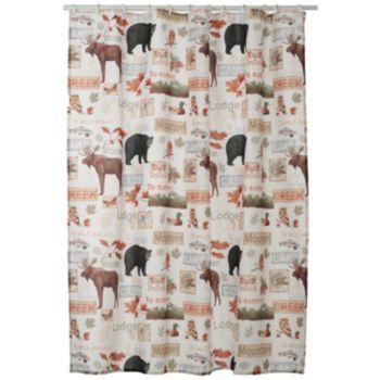 Home Classics Christmas Wilderness Fabric Shower Curtain Fabric