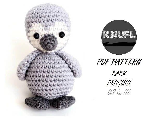 Crochet Pattern Penguin Stroller Toy Baby Crochet Crochet