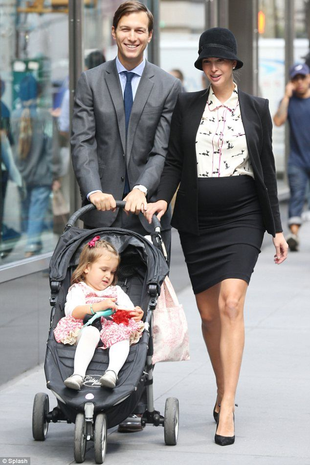 Ivanka Trump and family. Love what she is wearing!