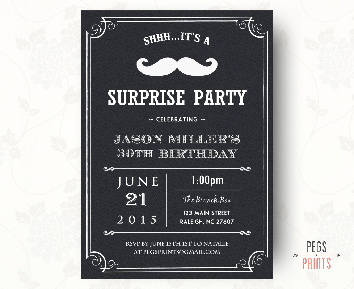 Adult Surprise Birthday Invites (Printable) Surprise 30th Birthday ...