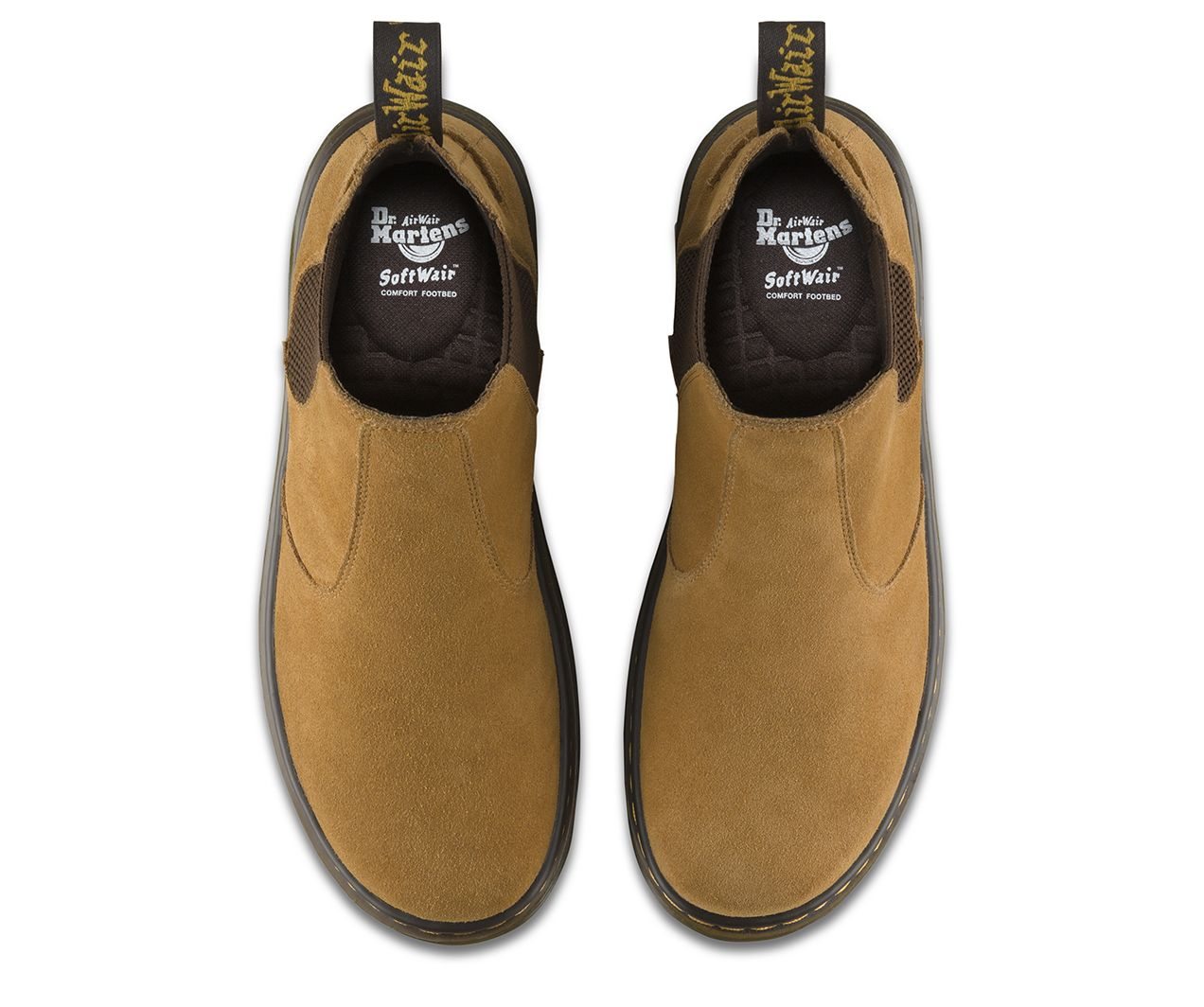 The Lyme Chelsea boot is made with soft Bronx suede and features a traditional silhouette, with elastic gussets for easy rebel fashion. It also includes all the classic Doc's DNA, like grooved sides, yellow stitching and heel loop, and our iconic air-cushioned sole.