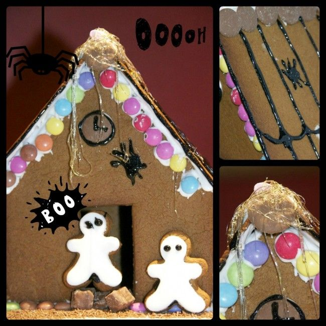 Halloween Gingerbread house #Halloween #Gingerbread