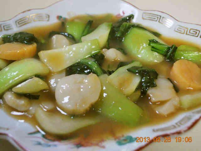 簡単♪青梗菜と帆立のオイスターソース炒めの画像