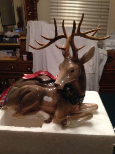 1950s Christmas Ceramic Reindeer Vintage Christmas Ceramic