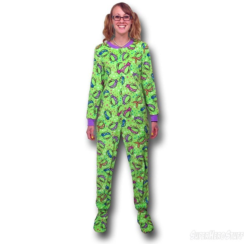 Womens footed pajamas, TMNT and Pajamas for women on Pinterest