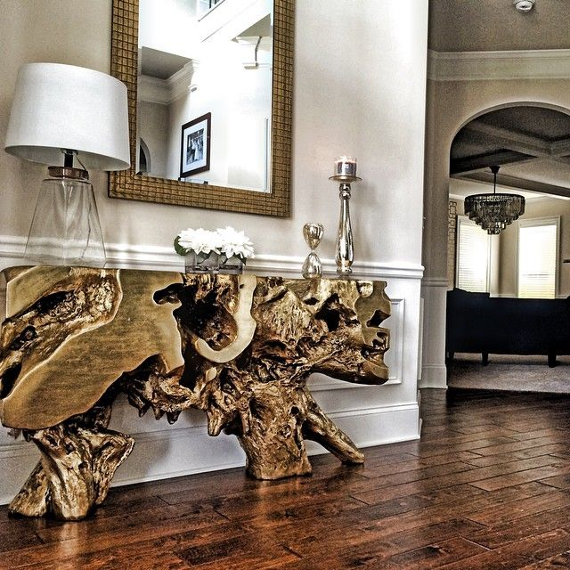Golden First Impressions With Our Sequoia Console Table