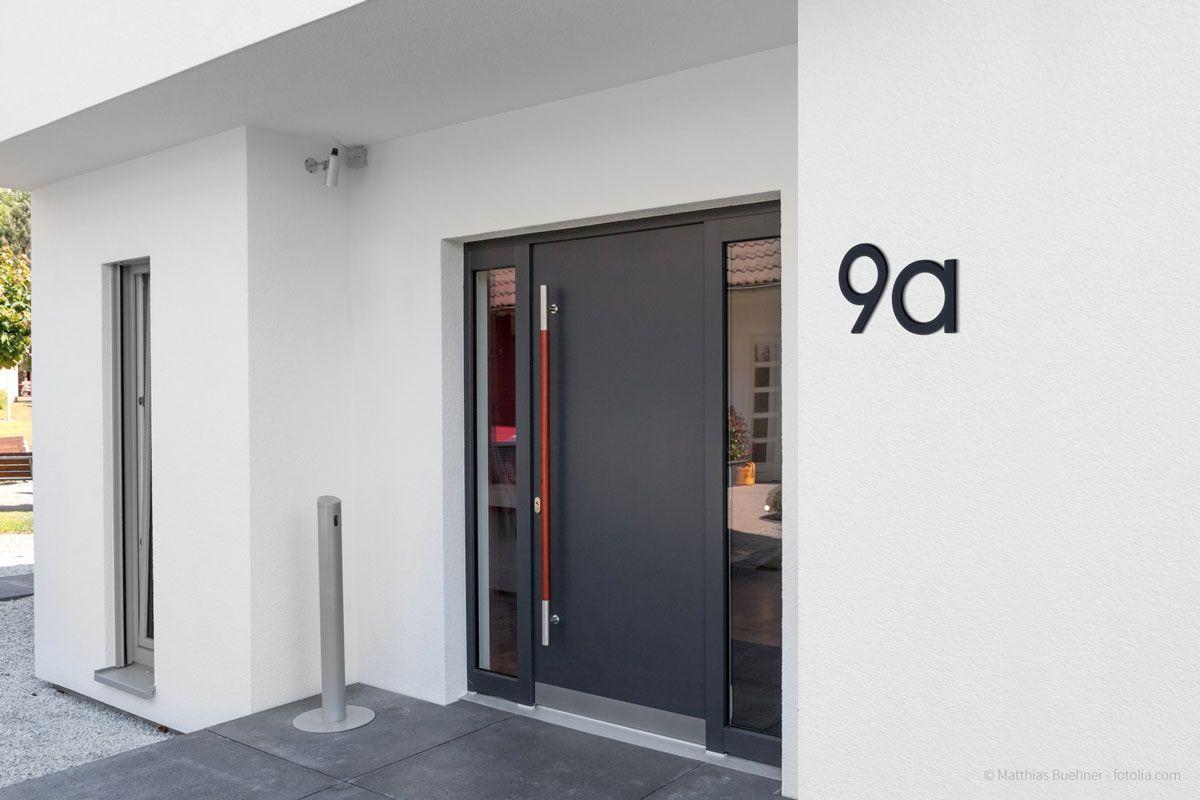 Thorwa Avant Garde Modern Edelstahl Designer Hausnummer 9 Ral 7016 Anthrazit Thorwa Metalldesign Hausnummernschild Hausnummern Hausnummer Edelstahl