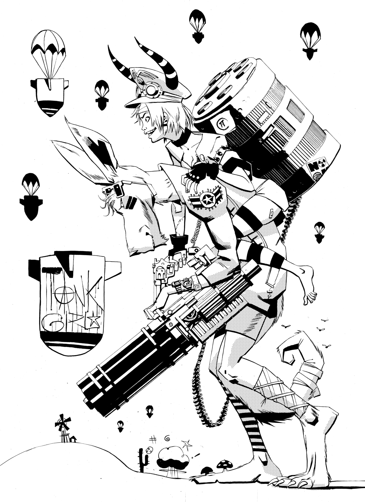 Tank Girl And Booga That S A Vulcan Cannon