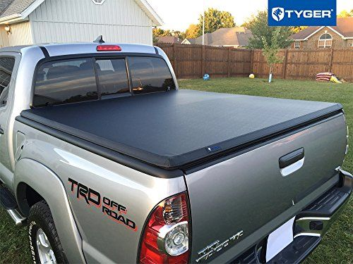 Tyger Tri Fold Pickup Tonneau Cover Fits 05 15 Toyota Tacoma Toyota Tacoma Double Cab Toyota Tacoma Tonneau Cover