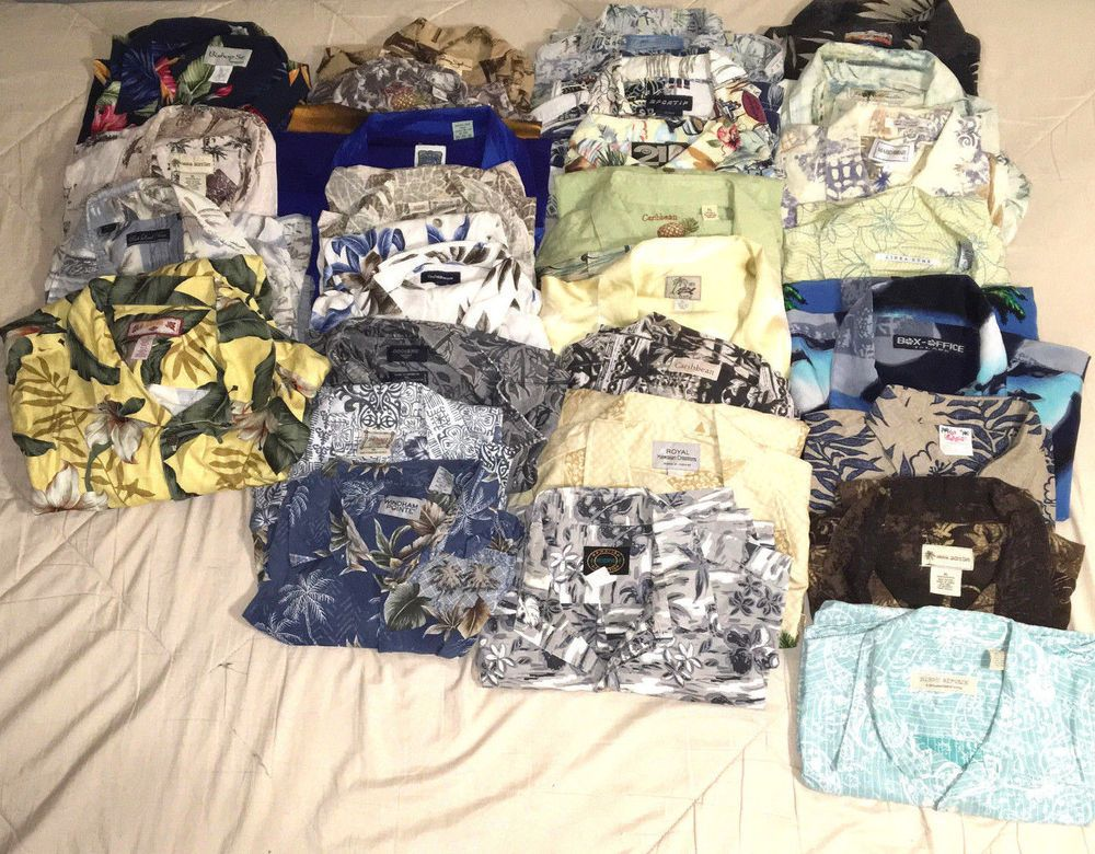 5bd790892bac Lot of 28 Men's Hawaiian XL Shirts Some Vintage Various Brands #Unbranded # Hawaiian