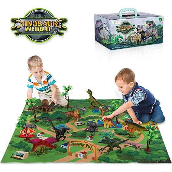 Amazon Com Temi Dinosaur Toy Figure W Activity Play Mat Trees Educational Realistic Dinosa In 2020 Dinosaur Toys Dinosaur Toys For Toddlers The Good Dinosaur Toys