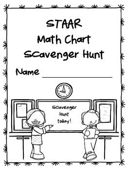 NEW Gr. 4-5 STAAR MATH CHART Scavenger Hunt (For TX
