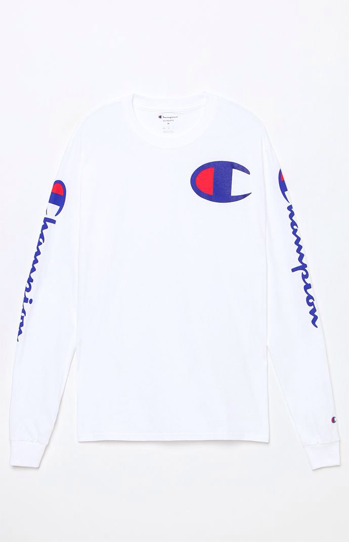 afdeaf5d Hooked on Script White Long Sleeve T-Shirt that I found on the PacSun App