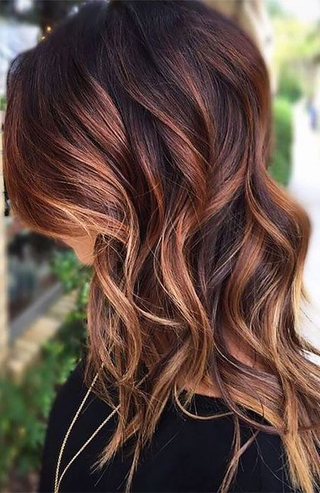 15 Blonde Highlights On Dark Hair, #Blonde #Dark #Hair #Highlights
