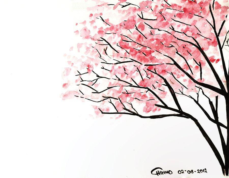 Cherry Blossom By Cappuchinnopony On Deviantart Cherry Blossom Drawing Cherry Blossom Painting Cherry Blossom Art