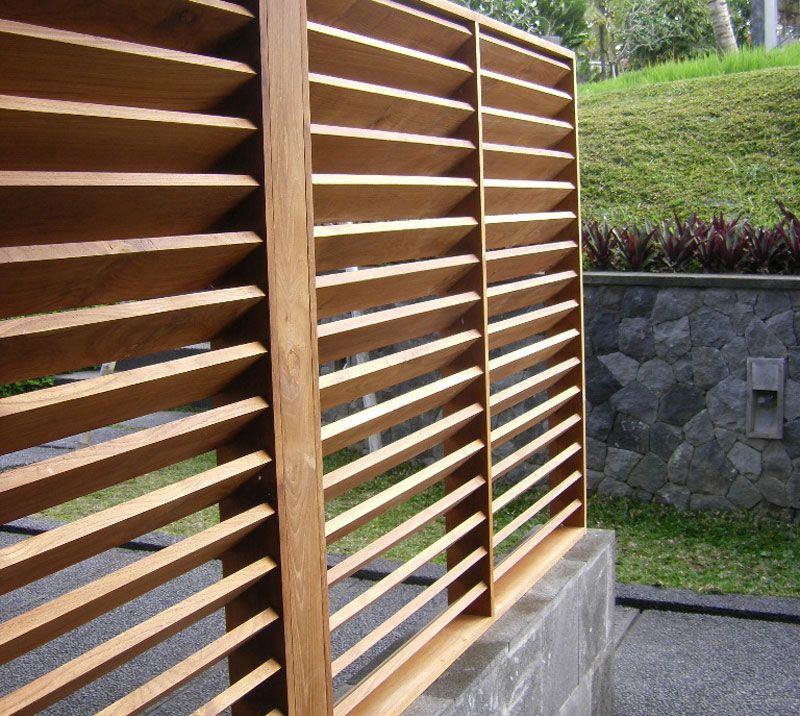 Panels Teak Porch Privacy Garden Screen Diy Fence Backyard