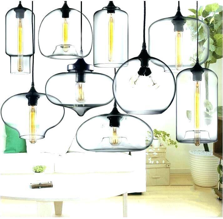 Pendant Lighting Globes Gl Sphere Lowes Chandelier