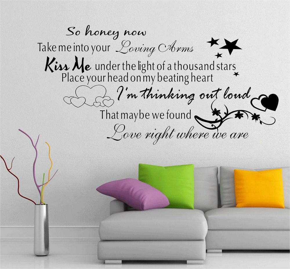 frases ed sheeran buscar con google frases pinterest song ed sheeran thinking out loud song music lyrics quote sticker wall art vinyl