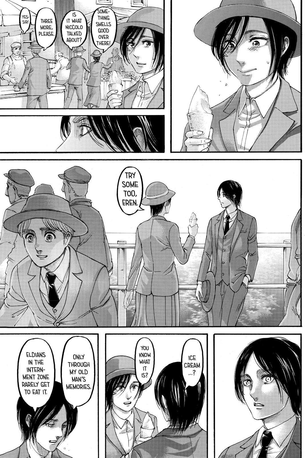 Shingeki no Kyojin Chapter 123 Page 8   Eren and mikasa ...