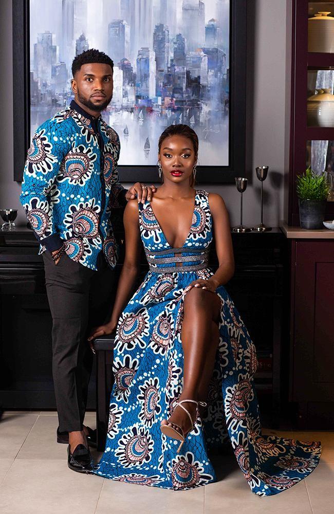 African Mens Fashion Shirts - Smart Mens African Shirt - Mens Grandad Collar Slim Fit Shirt - GERALD