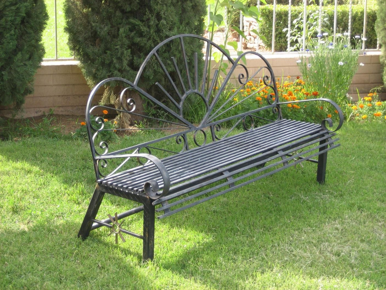 Banca de fierro fierro pinterest hierro bancas para jardin y bancos - Bancos de hierro para jardin ...