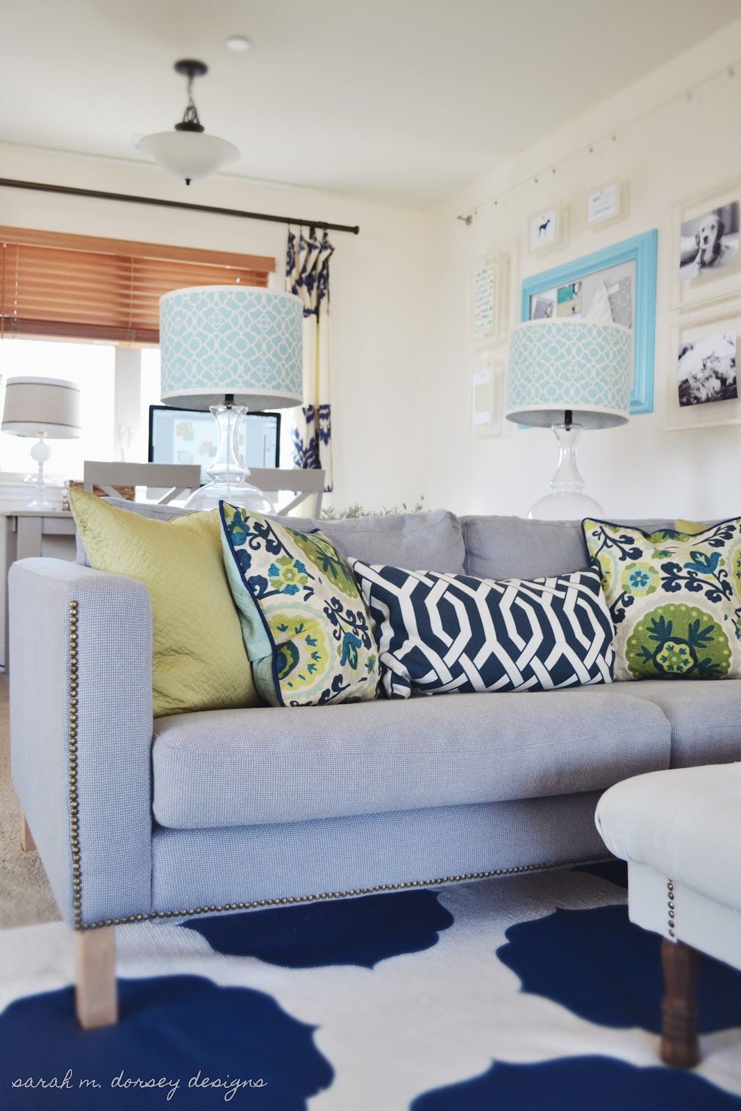 Sarah M Dorsey Designs Karlstad Sofa With Nailhead Trim Home Rh Pinterest  Com