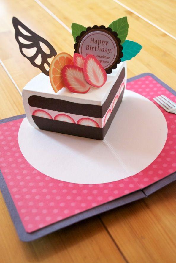 My Original Handmade Pop Up Card Mini Birthdaycake