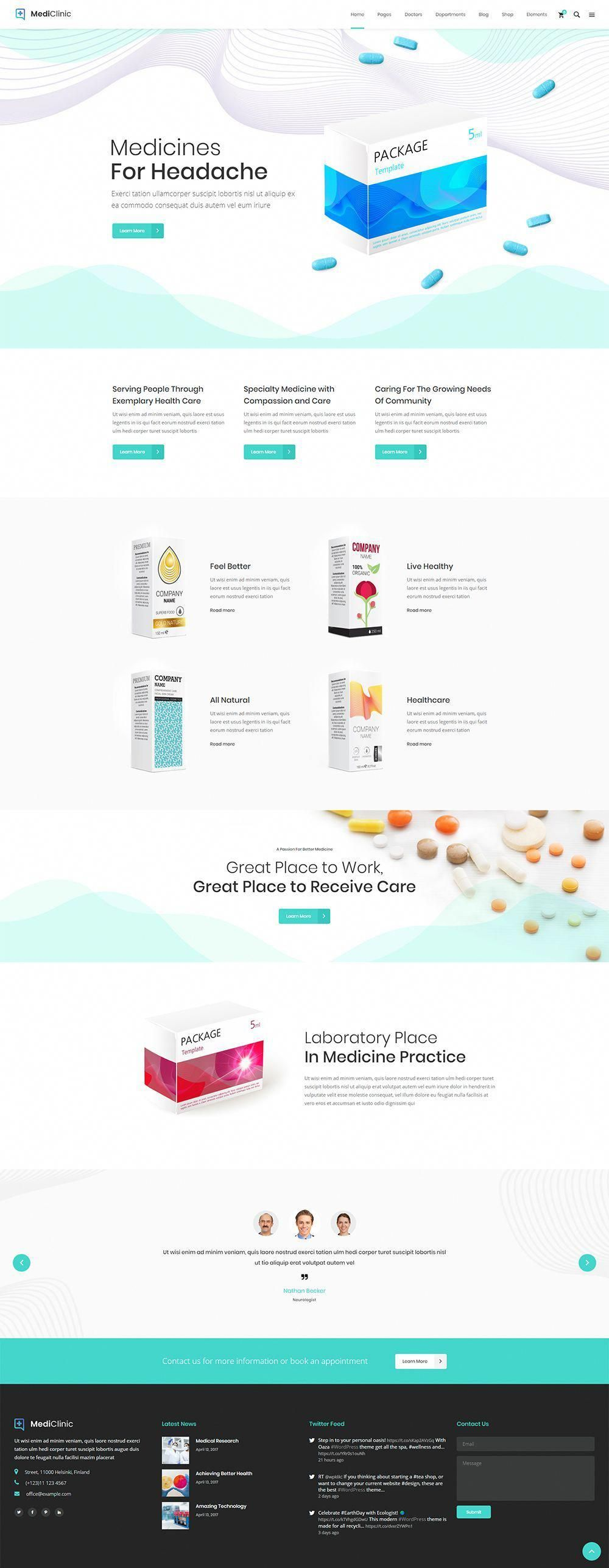 With MediClinic WordPress theme you can offer your medical services effortlessly! #wordpress #theme #layout #design #responsive #webdesign #medical #health #doctor #hospital #clinic #BenefitsOfCoffeeWeightLoss