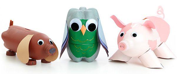 Homemade piggy banks make and do pinterest homemade for Plastic bottle piggy bank craft