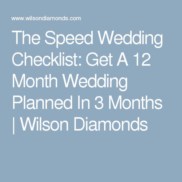 The Speed Wedding Checklist
