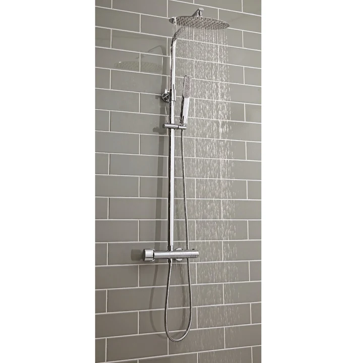 Merano Thermostatic Mixer Shower Oval Bar Valve Oval Drench Head
