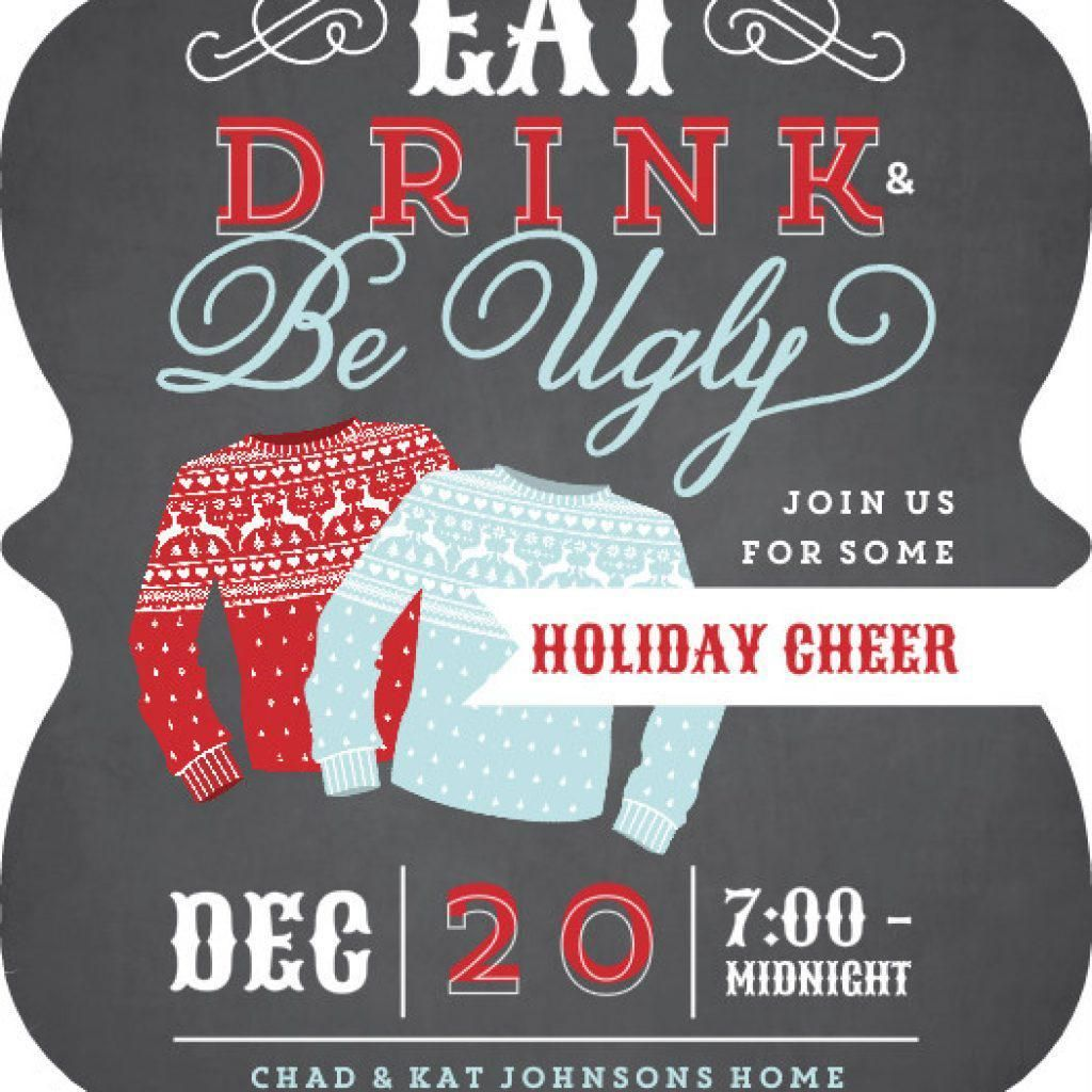 Ugly Sweater Invitation Template Free Party