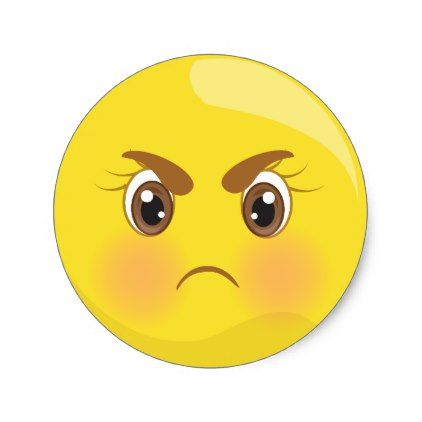 Mad Angry Emoji Face Stickers Zazzle Com In 2020 Emoji Faces Angry Emoji Face Stickers