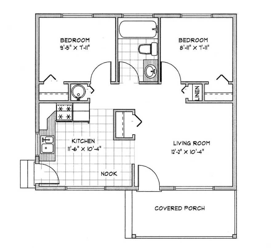 Pender Main Floor Small Cottage Plans Small House Floor Plans Cottage Floor Plans