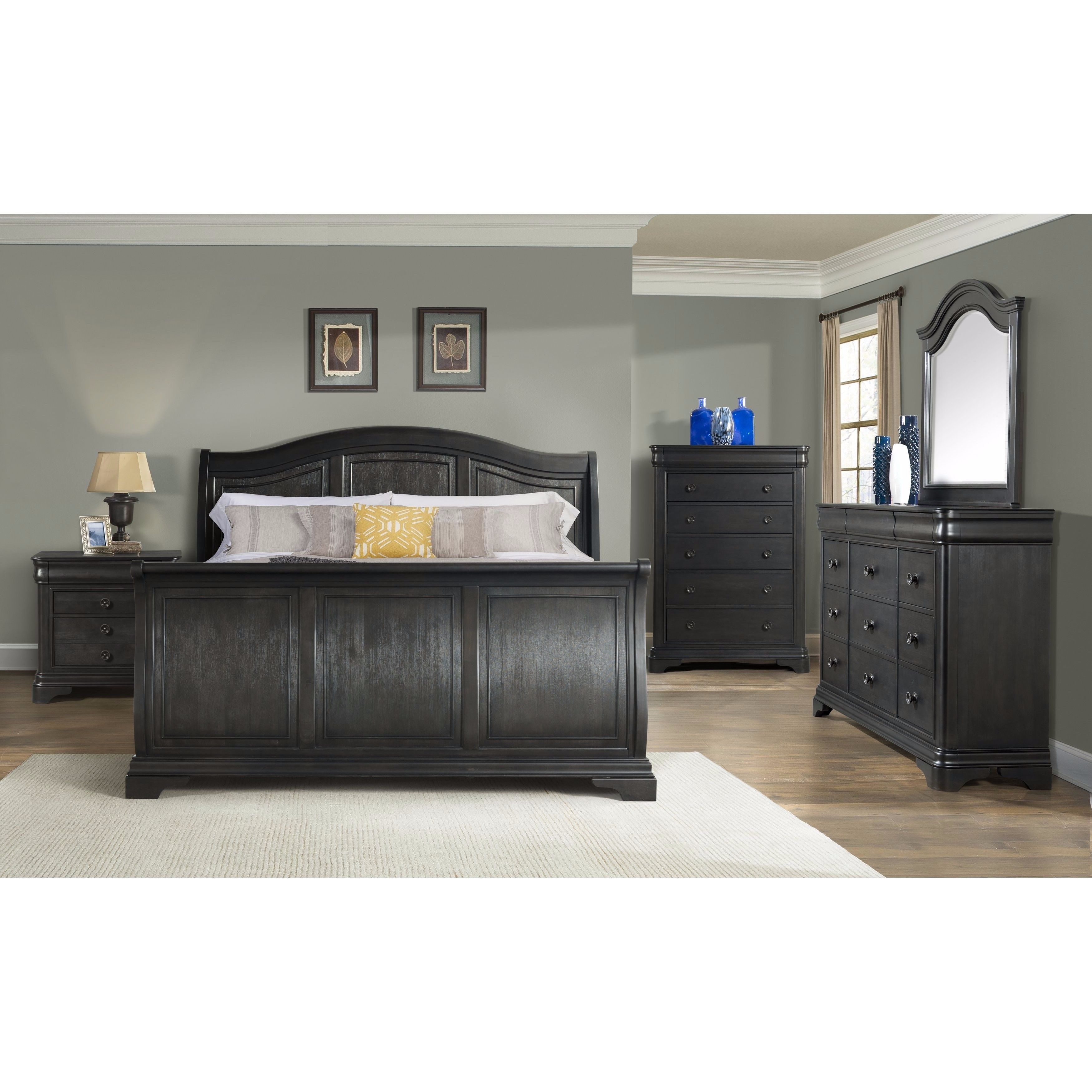 Best Picket House Furnishings Conley Charcoal Sleigh Bed Queen 400 x 300