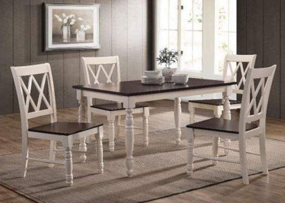 обеденный комплект стол стул дженни цвет белый шоколад цена