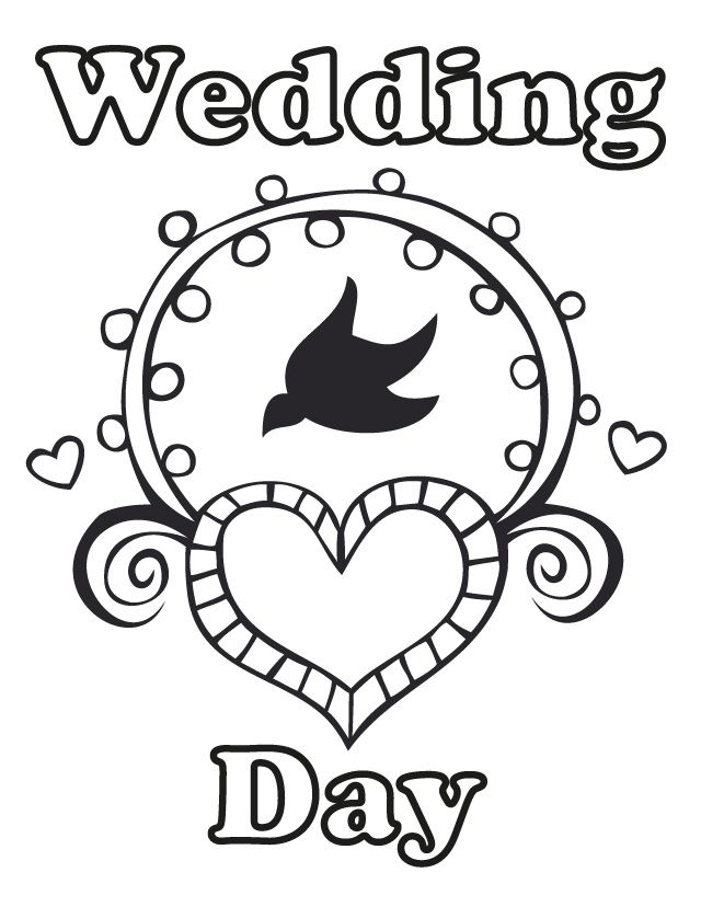 Wedding Coloring Pages Free Printable For Kids Day